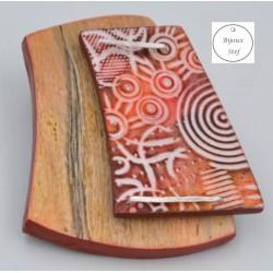 Broche pin's douceur naturelle orangée